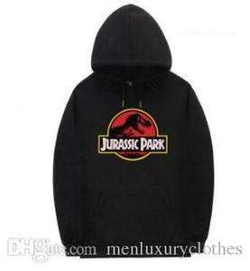 Толстовки Дизайнерская Одежда Топы Jurassic Park Мужские Скейтборд Толстовки Повседневная С Капюшоном Хип-Хоп Улица