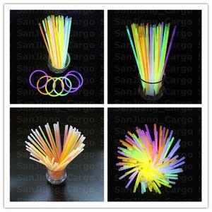 Kid Luminous Multicolor Glow Стик Браслет ожерелья неоновые партия мигающий свет Стик Wand игрушка новизны Вокальный концерт LED вспышка Палочки E31008