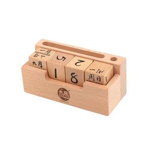 creative diy wood grain calendar wooden calendar childrens educational toys childrens gifts children baby play supplies