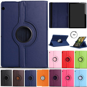 360 Rotating Flip Stand Leather Flip Cover Case For Huawei MediaPad T1 T3 T5 7.0 WIFI 8.0 10 9.6 M2 M3 Lite 10.1 M5 8.4 10.8