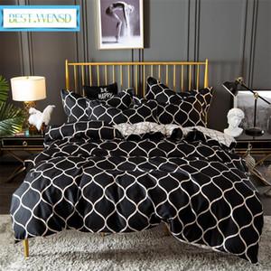 BEST. WENSD Qualidade Inverno Super macio e confortável beddings Ocidental Única cama de casal 3D folhas De Outono cat Quilt define ropa de cama