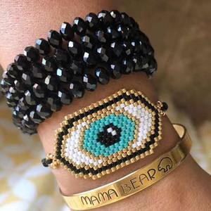 Miyuki male Bracciali Bracciali dell'occhio per le donne Pulseras Mujer Moda Regalo 2019 Jewelry malocchio Beadwork a mano
