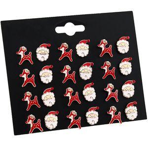 2019 Creative Design Santa Claus pendientes alces Establece zarcillos populares disimetría para la mujer Decoración de Navidad