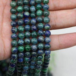 1strand / серия Природный камень Феникс зеленого золота из бисера круглые свободные шарики прокладки для изготовления ювелирных изделий Выводы DIY браслет ожерелье