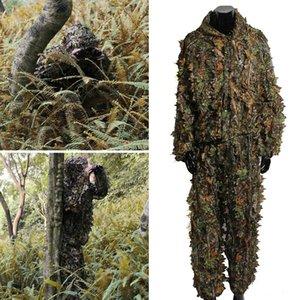 2020 Trajes de camuflaje Ghillie Trajes de Caza del camuflaje del arbolado Ropa Army Sniper ropa de época exterior para adultos
