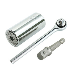 3pcs Multifunção nova marca de alta qualidade Auto-Ajuste Ratchet soquete 7-19mm Kit Ferramentas Repair Adapter Furadeira Car Mão