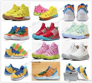 Nuovo Mens Kyrie Scarpe TV PE Basketball Shoes 5 per a buon mercato 20 ° Anniversario spugna x Irving 5s Pineapple House Womens Sport Sneakers