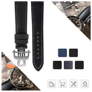 Nylon cinturino in gomma Cinturino per Fifty Fathoms Uomo Cinturino Nero Blu 23 millimetri con gli strumenti 5015-1130-52A