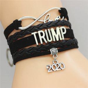 DGW Trump 2020 multi-couches Bracelet main Infinity Amour Bracelets Bijoux Mode Femmes Hommes Coffret Cadeau Livraison gratuite