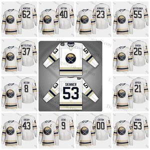 Buffalo Sabres 50ª Temporada Terceira Jersey 9 53 55 26 Jeff Skinner Jack Eichel Montour Rasmus Dahlin Rasmus Ristolainen Carter Hutton Bogosian