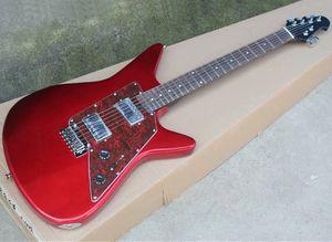 Электрическая гитара три цвета с красным жемчужным пикавтором, фретой розового дерева, 22 лада, могут быть настроены в качестве запроса