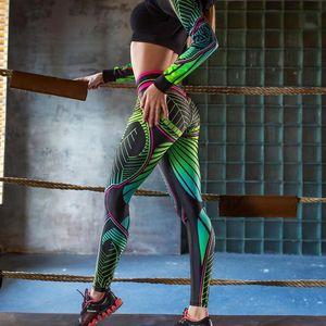 Sexy Women Sport Leggings Gym High Waist Push Up Printing Leggings High Stretch Slim Yoga Pants Fitness Women Leggings Y200529