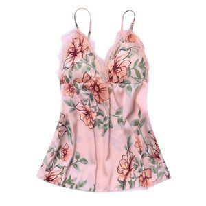 Moda Seksi Çiçek Dantel Pijama İç Gecelik Günaha Iç Çamaşırı Sleepshirts Nightgowns gece elbise roupas feminina
