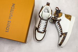 LOUIS VUITTON LV 19FW Rivoli Sneaker boot vintage Haute Cut Time Out Ace plate-forme Designer Chaussures Pour Femmes Sports En Cuir De Luxe Baskets Formateurs 44