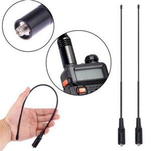 200 unids NA-771 Baofeng Walkie Talkie Gain Antenna SMA-F Doual Band UHF VHF CB Radio para UV-5R BF-888S UV-5RE UV82
