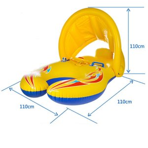 Infant Sunshade Seat Parent-Child Interactive Swimming Ring Inflatable Swimming Ring Inflatable Swimming Pool Retractable And De Life Vest