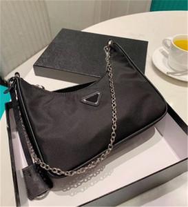 Bolso de hombro de lujo de alta calidad bolso de moda con textura de nailon solo hombro 5 colores CFY2001073