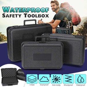 3 Размеров Защитной безопасность Инструмент Инструмента Box противоударного Toolbox Sealed Кейс для инструментов Ударопрочный Чемодана с губкой