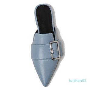 Karinluna 2019 verano Sexy mujeres zapatos ocio punta estrecha mulas zapatos planos mujer l05