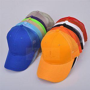 أزياء للجنسين شبكة قبعة بيسبول الصيف تنفس الشمس قبعة السببية الصيد بطة كاب نقية الألوان الرياضة كاب TTA839