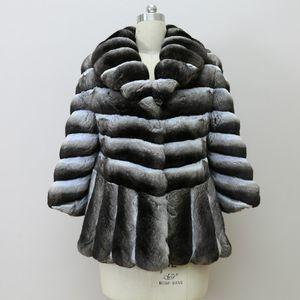 Arlenesain на заказ 2019 новый дизайн шиншилла стиль женщин меха платье специальная конструкция куртки