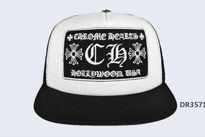 Nouvelle vague coréenne Cap Lettre de broderie Bend Fashion Cap Homme Hip Hop Voyage Visor Mesh Femme Cross Punk Baseball CapsDR3571