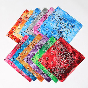 Hot Selling New Multifunction Colorful Sprots Bandana Headscarf Fashion Hip Hop Cotton Printed Square Magic Scarf for Women Men