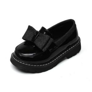 Los niños del diseñador de zapatos Zapatos de las muchachas de la princesa de lujo Apartamento de Bowtie niñas color sólido Slip-en los zapatos de estilo estudiante estilo británico de explosión