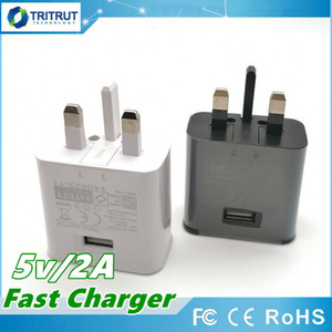 Gute Qualität UK Adaptive Charging Schnelle 5V 2A USB-Wand-Schnell-Ladegerät-Adapter-Stecker für Samsung Galaxy S10 S9 S8 Plus-S7 Rand S6 Hinweis 8 9 MQ200