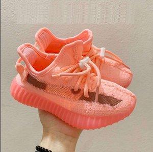 free shipping Kids Shoes Kanye West Zebra Beluga Wave Runner Grey Orange Black Running Shoes Trainers For Boy Girl Baby Kids With Box