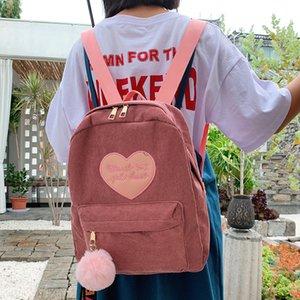 Casual Corduroy Backpacks For Women Fashion Back Pack Female Teen Girls School Bag Shoulder Backpack