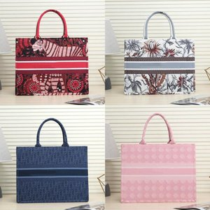 New fashion Colorful jacquard canvas handbag shopping bag canvas fabric Double handle design large shoulder strap Large capacity crossbafBE#