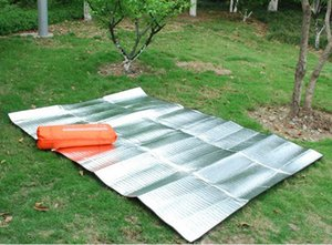 Double-Sided Aluminum Film Moisture-Proof Mat Tent Mat Picnic Mat Camping with Outer Bag 200*150cm