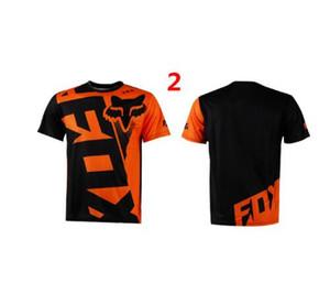 New Fox manches courtes Downhill Jersey VTT T-shirt Maillot VTT Vélo Shirt Uniforme Cyclisme Vêtements Vêtements moto