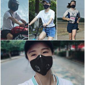 Hot Cycling Face Mask Activated Carbon avec filtre anti-pollution PM2.5 Sport Courir Formation VTT Route Protection vélo Masque anti-poussière FY9075