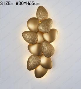 Moda LED Modern Luxury Hotel Golden Corridor Lamp Nordic Designer Lâmpada de parede Quarto transporte cabeceira Decoração Wall Lamp gratuito