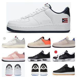 KITH x 1 07 Tigre Blanc Porto Rico Rose Quartz Colin Kaepernick CK CLOT True To 7 ACG 07 Hommes Femmes Chaussures 1s Para-bruit