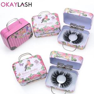 Горячая OKAYLASH 1 пара маленькая накладная ресница упаковочная коробка изготовленный на заказ ваш собственный логотип пустой макияж ресницы хранения для продажи