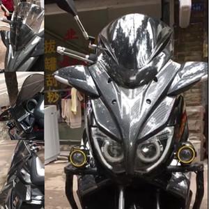 Modifizierte Motorrad NMAX Imitation Carbon-Windschutzscheibe Windschutzscheibe Windschirm Windabweiser Spiegel für nmax155 nmax 2016 -2018