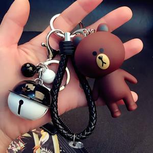 Lüks Tasarımcı Anahtarlık Kore Karikatür Sevimli Kahverengi Ayı Anahtarlık Yaratıcı Kenny Tavşan Doll Anahtarlık Bayan Çanta kolye Hediye
