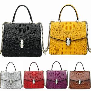 S.Ikrr Worean Bag Luxury Crocodile Shoulder Bag Women Bags Designer Version Wild Girls Small Square Messenger Bag Bolsa Feminina.#Ahh#511
