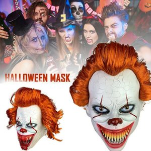 Dropship волос Длинного Clown Joker Clown Party Soul-перемешивая Маски Маски Кровопролитие Хэллоуиной Latex Return Costplay Маска Маску Terror Uburv
