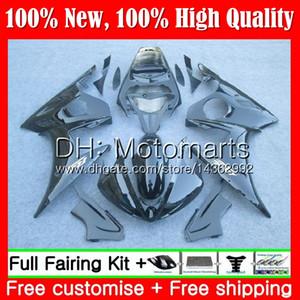 Cuerpo para YAMAHA YZF600 YZF R6 03 04 05 YZFR6 03 04 05 89MT11 YZF 600 R 6 YZF-R600 YZF-R6 negro brillante 2003 2004 2005 Fairing Bodywork Kit