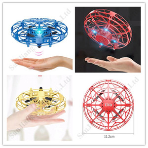 40cm UFO Smart Gesture Induction Suspension Aircraft Flying Saucer With LED Lights Mini Airplane Toys Entertainment Gifts for Kids A112004