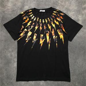 Luxo Verão T Shirt Black White Stylist shirt das mulheres dos homens de manga curta Unisex Camiseta Hip Hop Tees Tamanho S-XXL