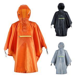 أدوات في الهواء الطلق للماء المطر ملابس مع شريط عاكس النساء الرجال عباءة الصيد المعطف التخييم جولة المطر والعتاد 3 ألوان
