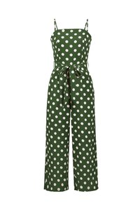 Nuovi prodotti delle donne Explosion Fashion Allentato Europa e America senza maniche Strap Polka Dot Long Jumpsuit