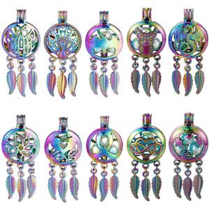 50 Arten für Sie wählen -Pearl Cage Traumfänger-hängende Aroma Essential Oil Diffuser Locket DIY Halskette Ohrringe Armband-Schmucksachen