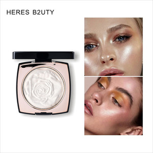 HERES B2UTY Face Powder Makeup clarear a pele 3 cores Illuminate Maquiagem Bronzer Contour Rose Gold Marcador pó Definir Pó