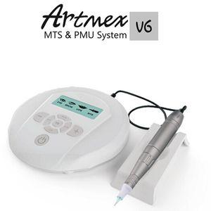 Artmex V6 Digital semi composição permanente MTS Sistema PMU com a pena ficar Derma Pen lábio sobrancelha caneta tatuagem